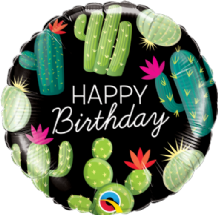 "Birthday Cactuses Foil Balloon (18"") 1pc"